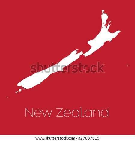 A Map of the country of New Zealand
