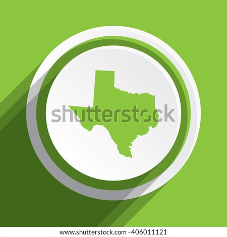 A Map of the the state Texas