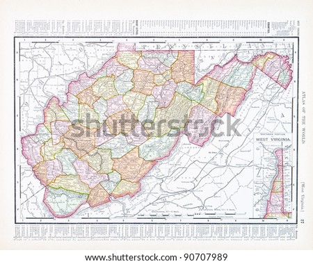 West Virginia Map Stock Images RoyaltyFree Images Vectors - West virginia on us map