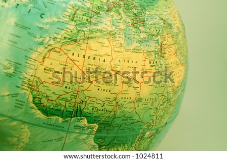 A map or globe of the earth 3 - stock photo