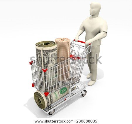 A marketing illustration related to saving small amounts of money that can add up. - stock photo