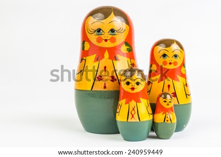 A matryoshka doll also known as Russian nesting doll. - stock photo