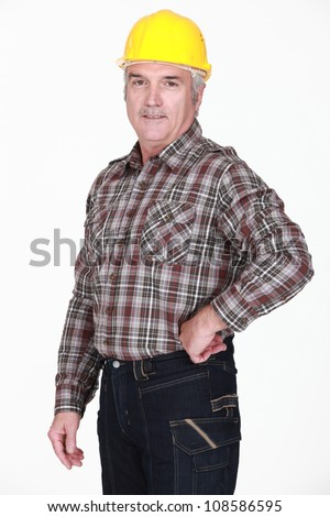 A mature construction worker. - stock photo