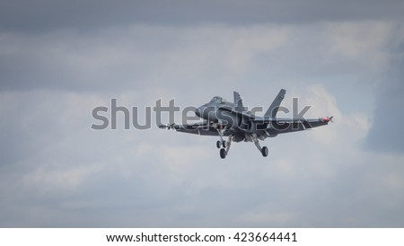 A McDonnell Douglas F/A-18 Hornet aircraft in flight