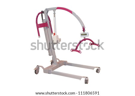 A Mechanical Hoist to Help Lift a Disabled Person. - stock photo