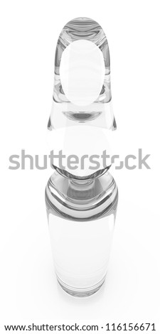 A medical Ampule. 3D rendered illustration. Isolated on white. - stock photo
