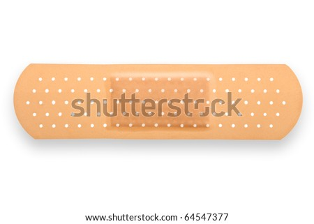 A medical equipment - adhesive plaster isolated on white background - stock photo