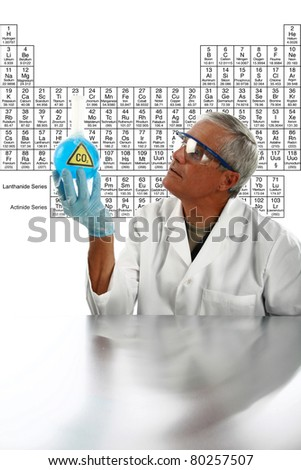 a medical research scientist or chemist works on a cure for something to help mankind. isolated on white with room for your text. . - stock photo