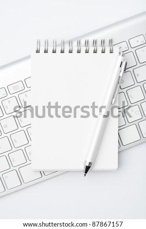 a memo pad on the desk - stock photo