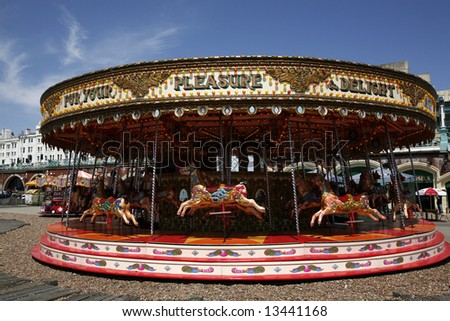 a merry-go-round - stock photo