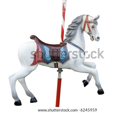 A merry-go-round horse - stock photo
