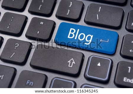 a message on keyboard enter key, for blog concepts.