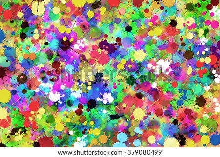 A Messy Grunge Paint Splat Background - stock photo