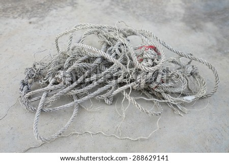A messy old rope.  - stock photo