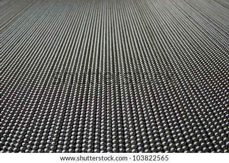 A metal curtin from a low angle - stock photo