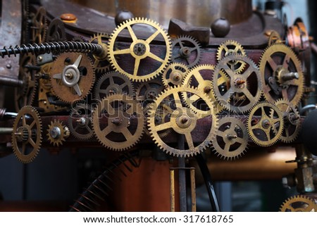 A Metal gear cogwheel  - stock photo
