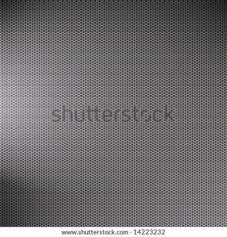 A metal mesh texture with lighting effects - very high tech and great as an art element in any design. - stock photo