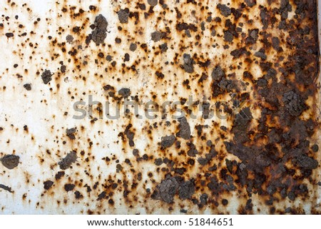 A metal, mud, and rusty background image - stock photo