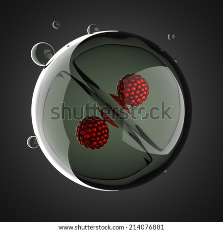 A micro cell division process illustration - stock photo