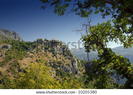 A middle aged village in the south of France. Alpes Maritimes, Nice. - stock photo