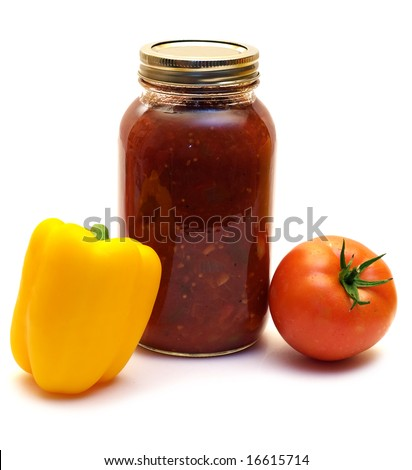 A mild salsa made with tomatoes and mild peppers