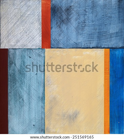 a minimalist abstract painting - stock photo