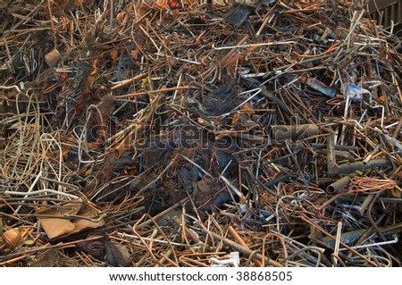 A mix of scrap copper for recycling - stock photo