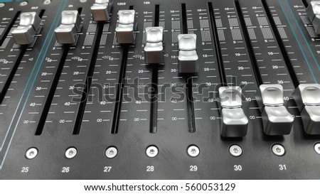 A mixer for sound control