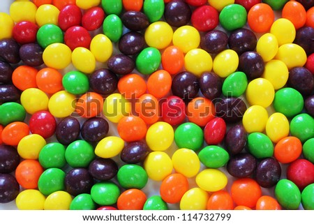A Mixture of Coloured Candy - stock photo