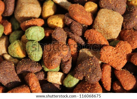 A Mixture of Dog Biscuits - stock photo