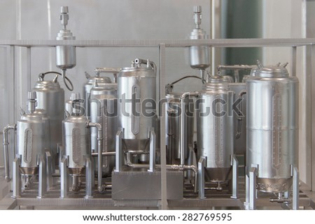 A model of the boiler in the factory - stock photo