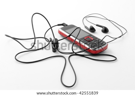 a modern and captivating mobile phone - stock photo