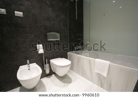a modern bathroom interior