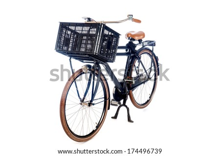a modern, bicycle for a teenager on a white background - stock photo