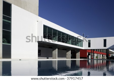 A modern building - general architecture - stock photo
