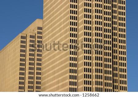 A modern city skyscraper. - stock photo