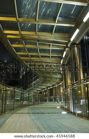 A modern flyover at night. - stock photo