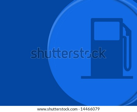 A modern gas pump background with lots of copy space