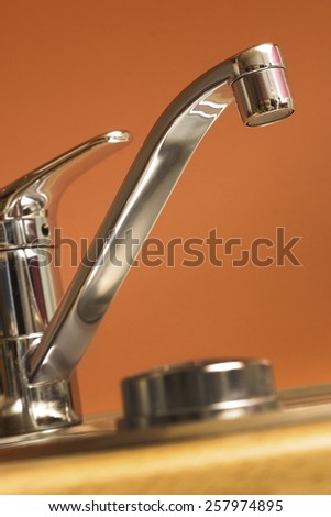 A modern kitchen tap