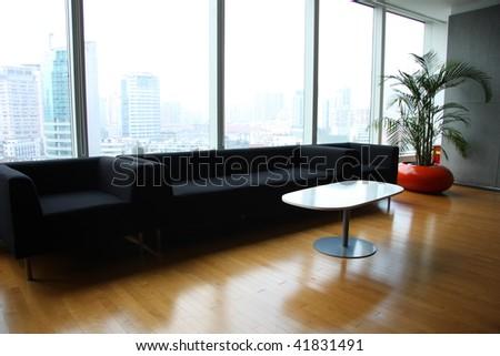 A modern lobby for an company. - stock photo