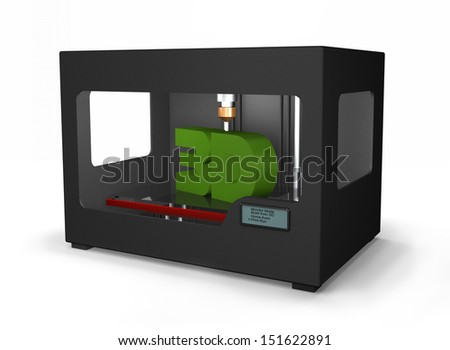 A modern marvel is the new 3D printers that can make most anything of plastic - stock photo