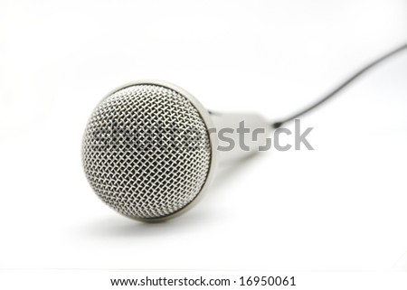 a modern microphone isolated on white background