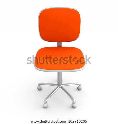 A modern office chair. 3d rendered Illustration. - stock photo
