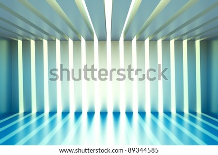 a modern room in sunlight - stock photo