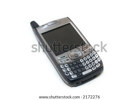 A modern smartphone isolated against a white background.