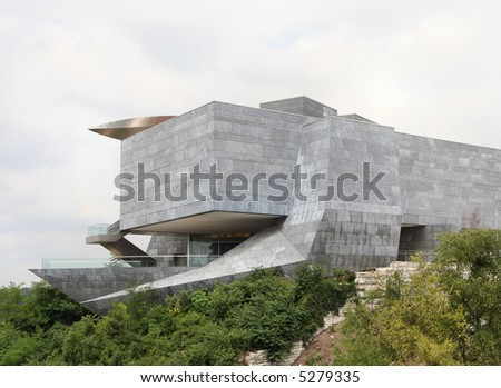 A modern stone building in Chattanooga, Tennessee. - stock photo