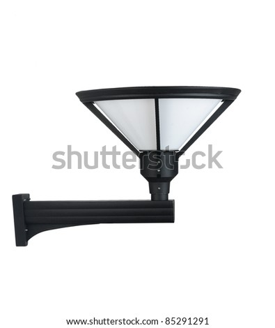 A modern wall lamp for decorate exterior, garden or walkway