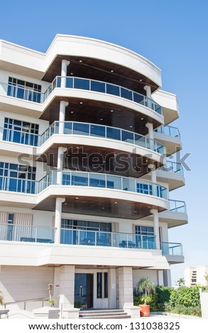 Modern Large Balconies Modern White Condo Building In The Tropics With Large Balconies