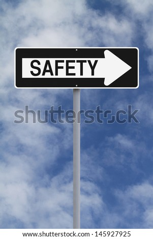 A modified one way sign on safety