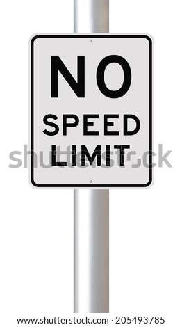 A modified speed limit sign   - stock photo